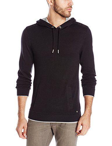 Buffalo David Bitton Men s Wallyong Long Sleeve Hooded Sweater ... 29abc0f419