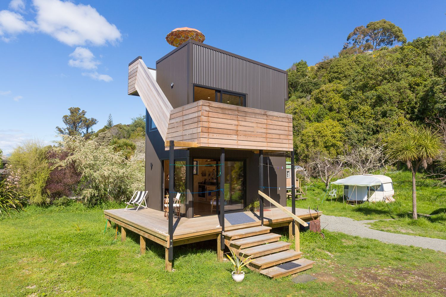 Ruby Tower is a unique tiny house