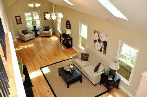 Suzie: HGTV - Find your Style - Long narrow living space split ...