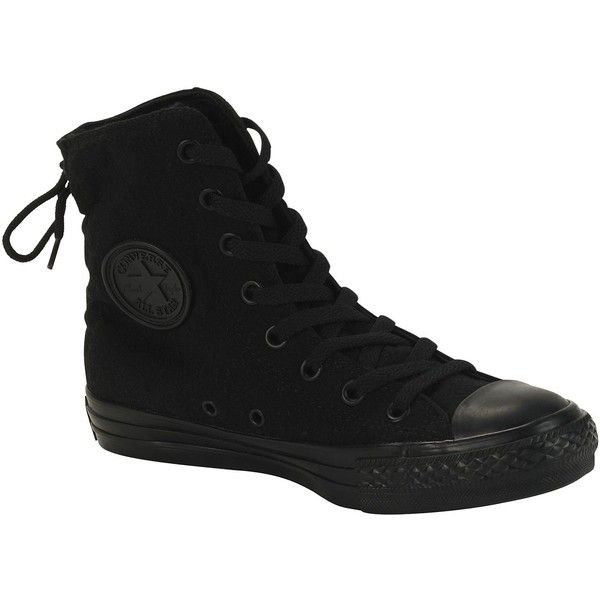 38ec284b10d4 Converse Women s Athletic Shoe Chuck Taylor All Star Slouchy Black ( 59) ❤  liked on Polyvore featuring shoes