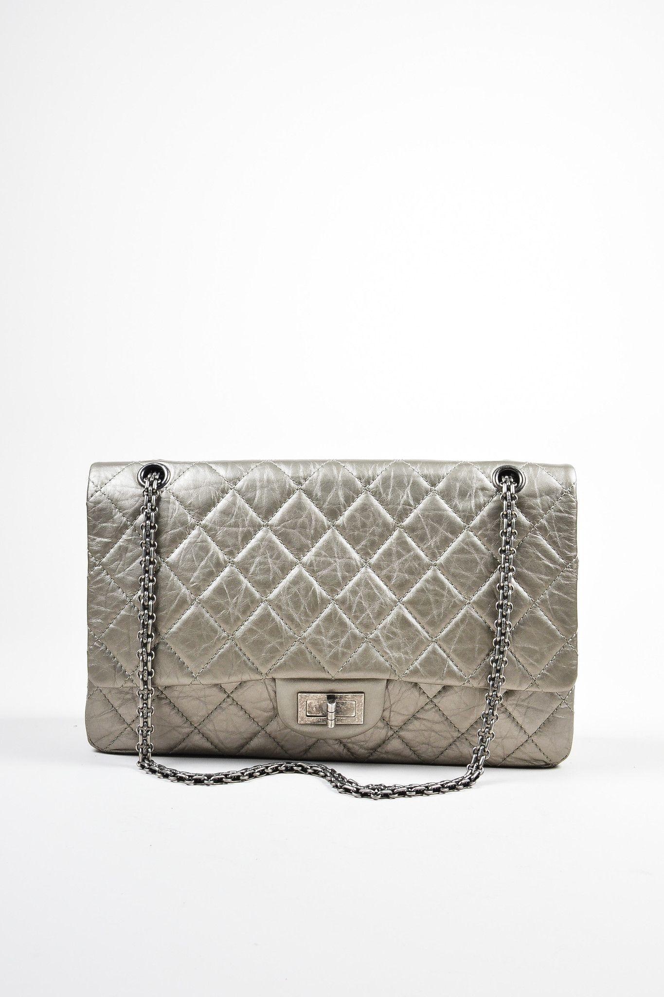 ef9faaae7de31d Metallic Silver Leather Chanel