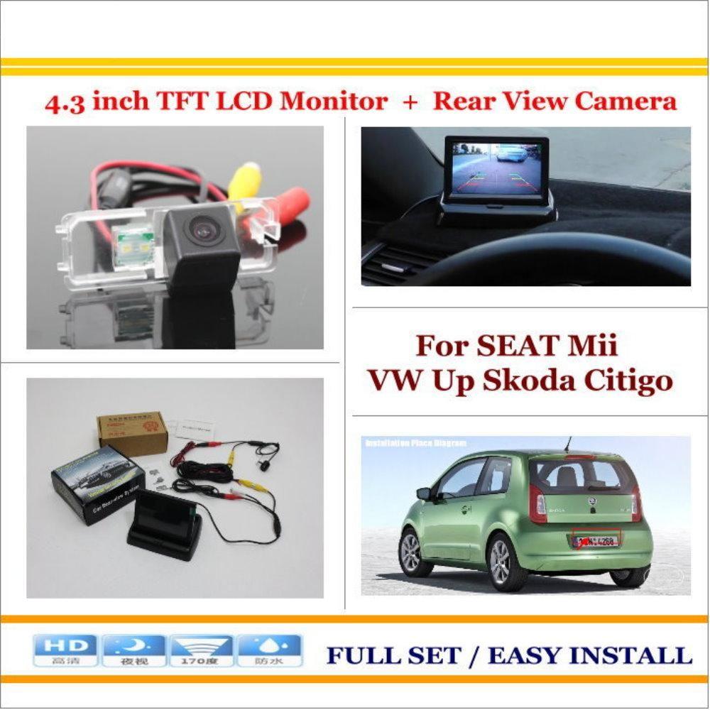 For Seat Mii Vw Up Skoda Citigo 4 3 Tft Lcd Monitor Car