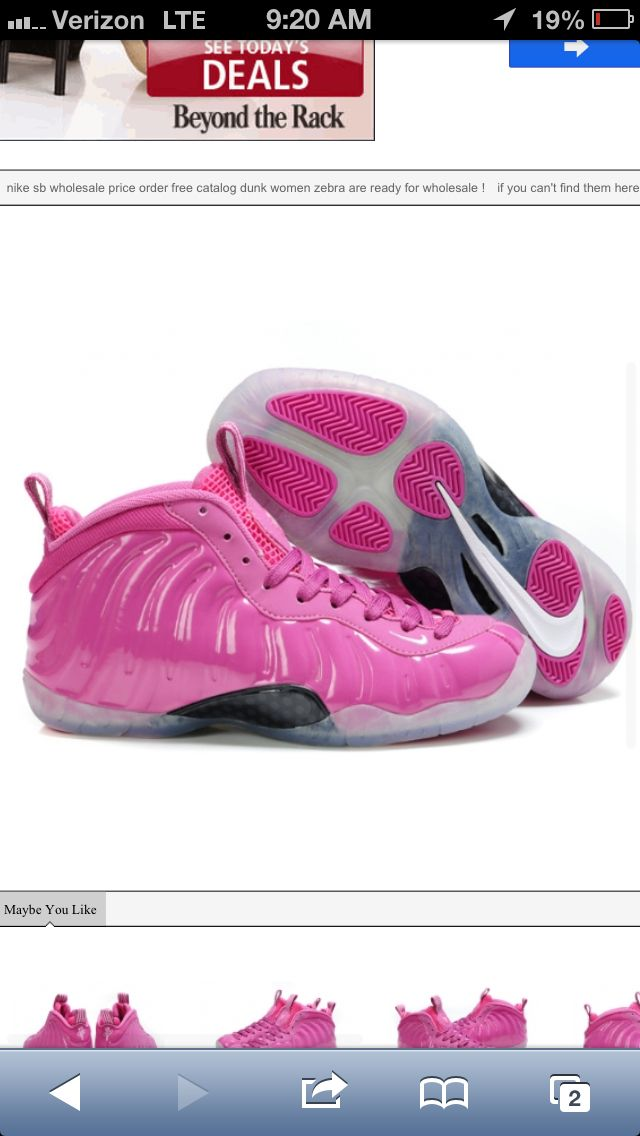 0e7621134330d I Don t Wear Sneakers That Often .... These Breast Cancer Nike Foamposites  Are Dope As Hell 🎀💞💁