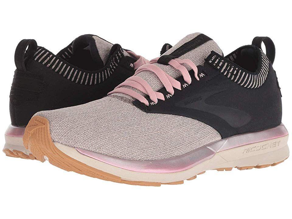 Running Shoes Black/Tan/Pink