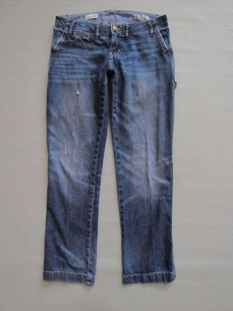 e0720d732fd42 GAP 1969 Jeans 2 26 Easy Straight Carpenter Destructed Denim Relaxed  Utility #GAP #EasyStraight #Carpenter