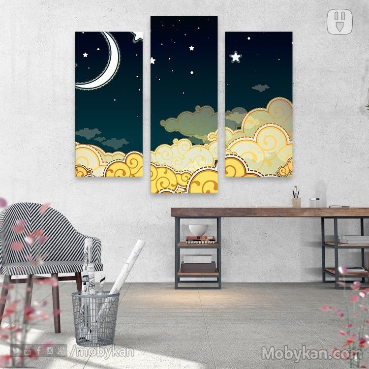 هلال ونجوم جرافيك Illustration Graphic Home Decor Decals