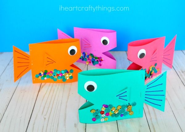 Super Cute Paper Fish Craft Parp Fish Crafts Crafts Crafts For