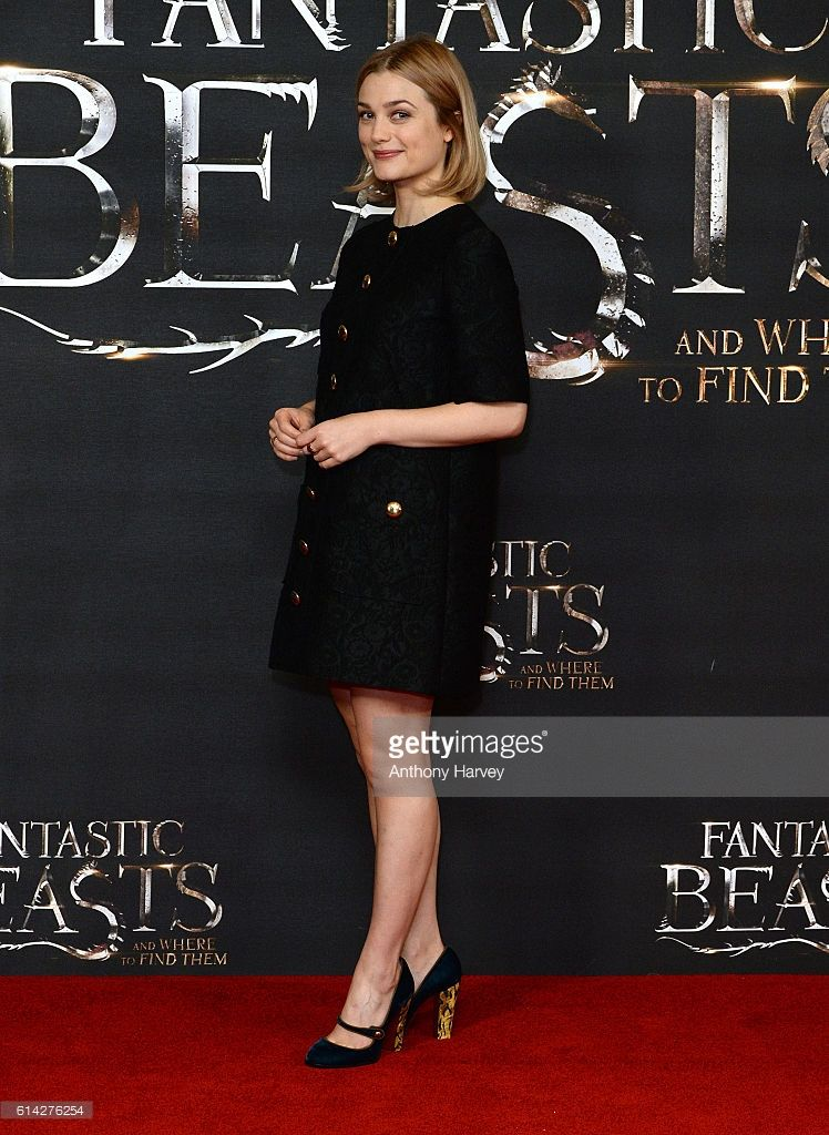 Alison Sudol attends a photocall for 'Fantastic Beast And Where To Find Them' at May Fair Hotel on October 13, 2016 in London, England.