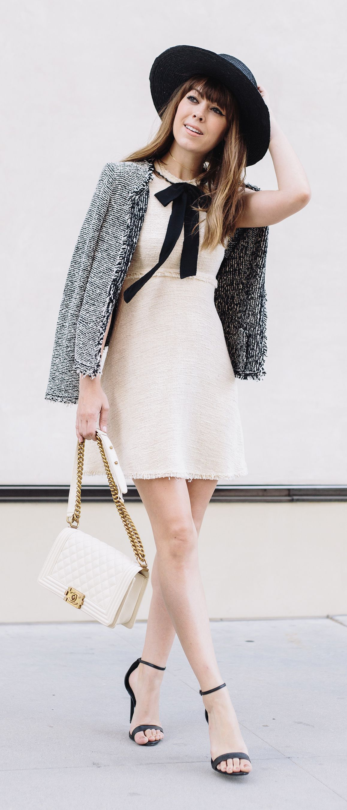 5021d4a54640 margo and me fashion blog   street style   bow dress   chanel bag ...