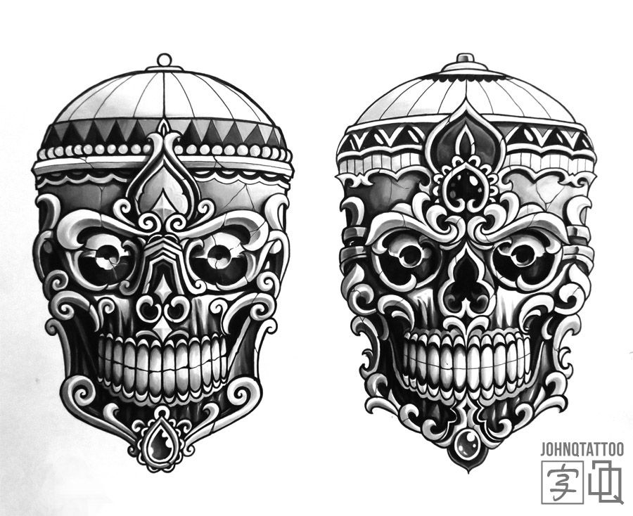 Kapala Sketch Still Up For Grabs Japanese Tibetan Skull Tibetanskull Tattoo Japanesetattoo Sketch Johnqtattoo Sto Tibetan Tattoo Tattoos Japanese Tattoo Art