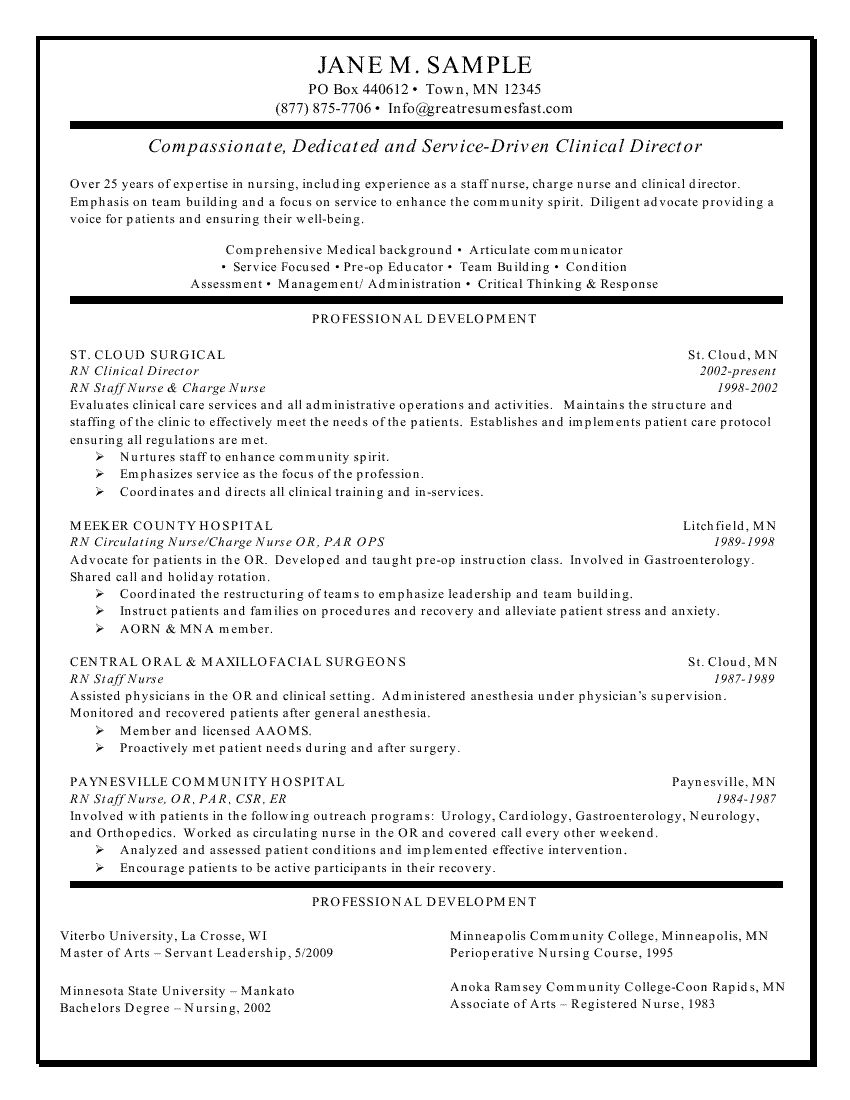 Experienced Nursing Resume Samples Temporary Chef Sample Director