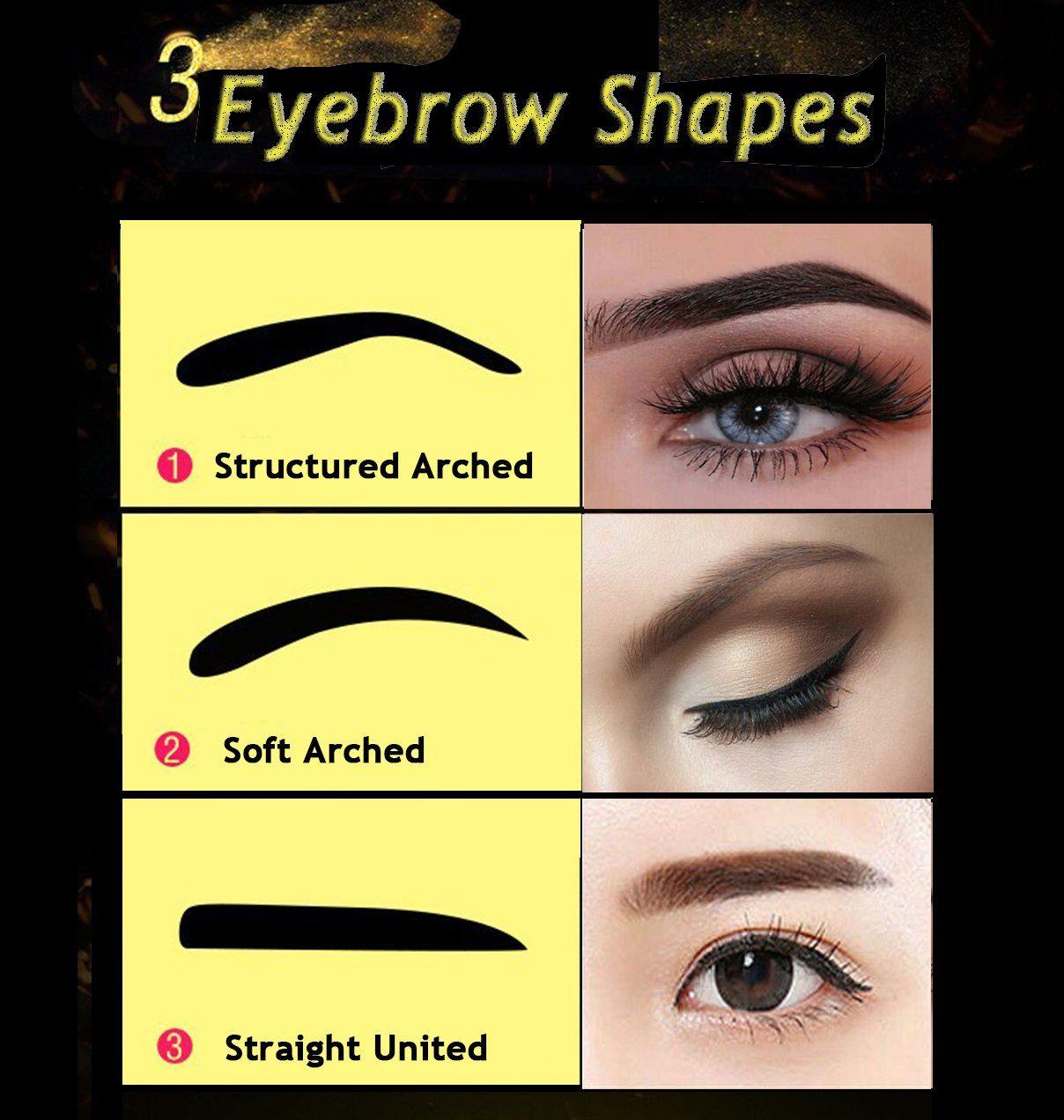 Eyebrow Stamp Powder Stamper Waterproof Longlasting Brown Easy Press
