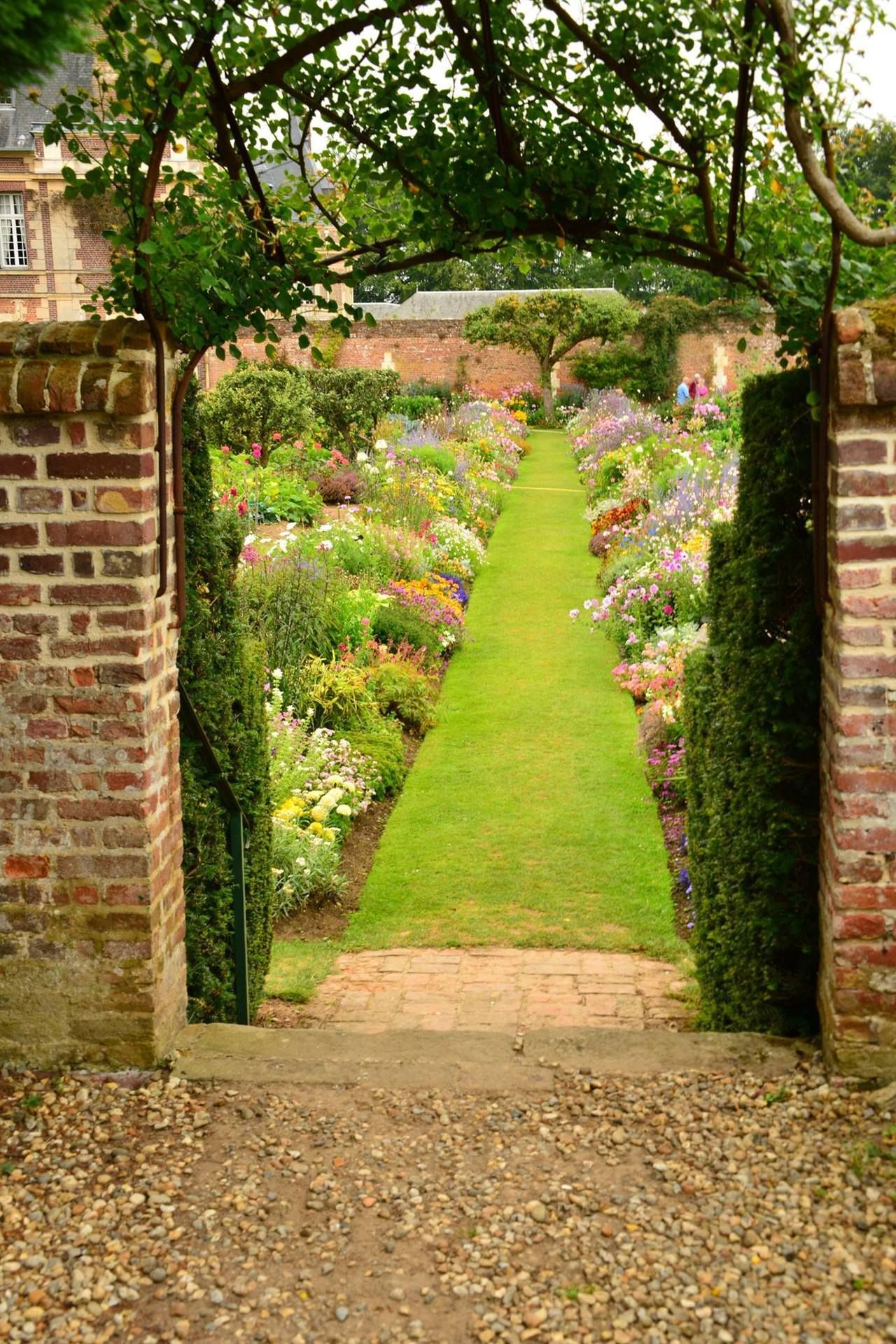 """carex: """" The potager at Chateau de Miromesnil in Normandy. I\'m ..."""