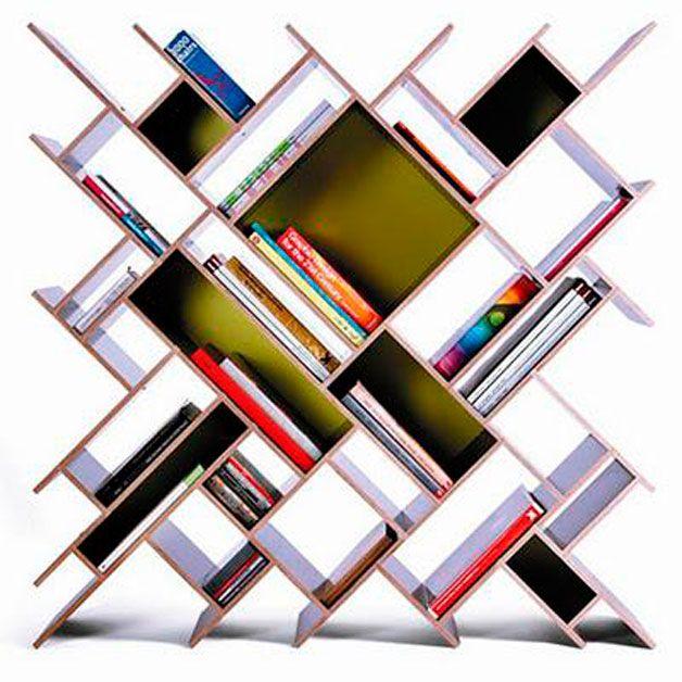 Ideas para organizar los libros en casa sin necesidad de contar con - bibliotecas modernas en casa