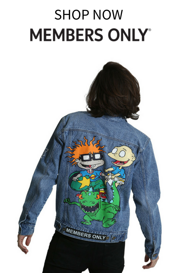 86dfbe02b80fc Shop the new denim collection from Members Only. Featuring brand new  Nickelodeon jackets.