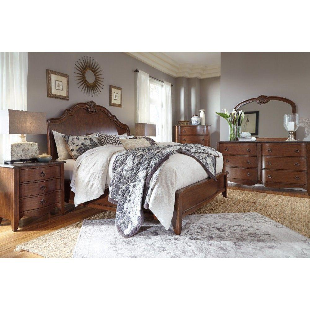 Ashley Furniture Balinder Panel Bedroom Set In Medium Brown