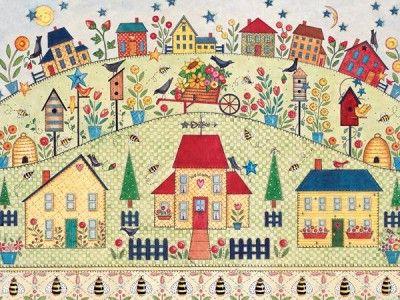 Ellen Stouffer Artist | Folk Art of Ellen Stouffer Puzzle Houses of My Friends | eBay