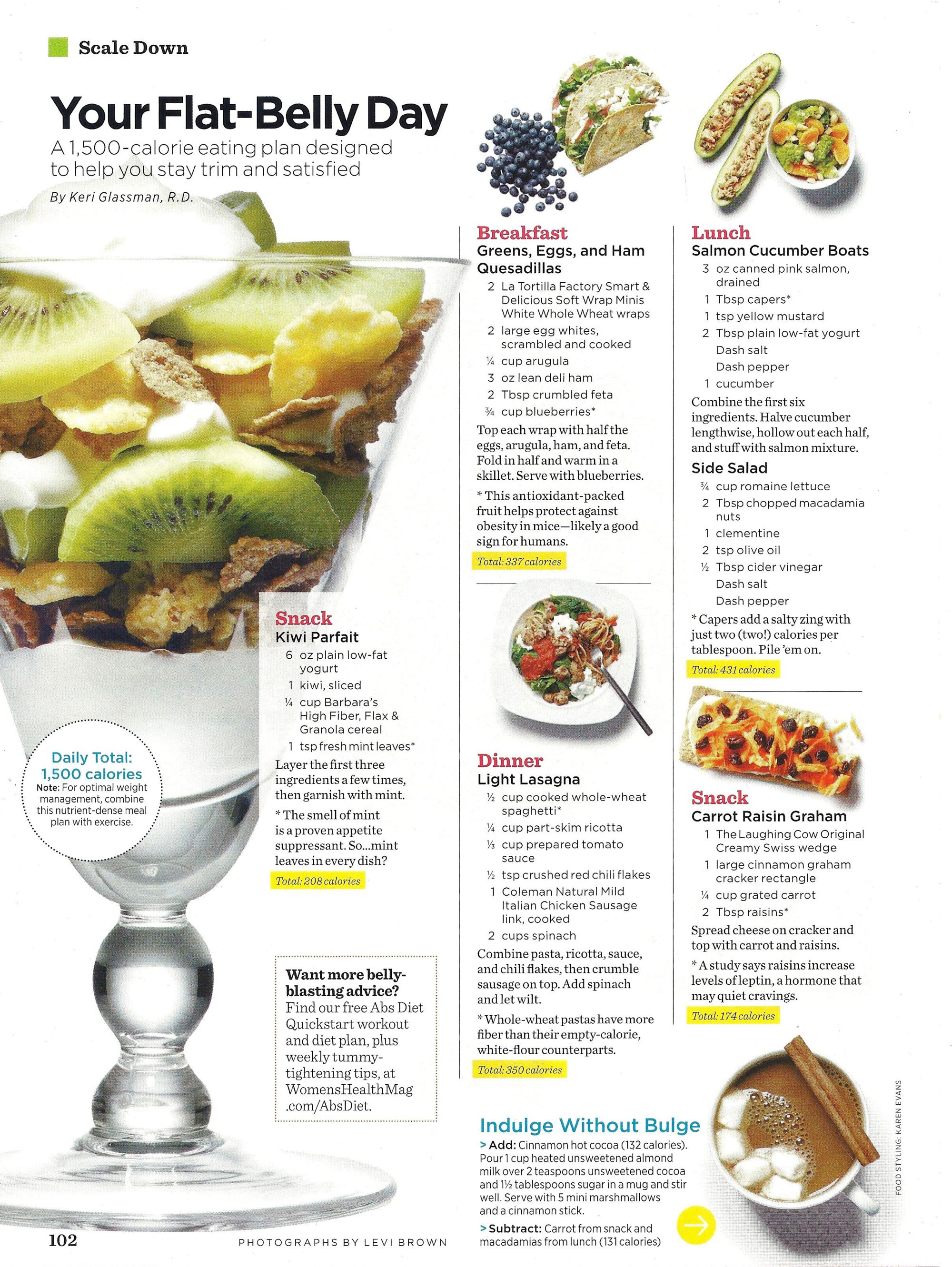 Weight loss meal plans womens health