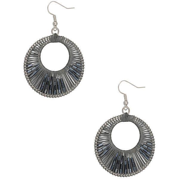 Beaded Burst Earrings ($1.80) ❤ liked on Polyvore