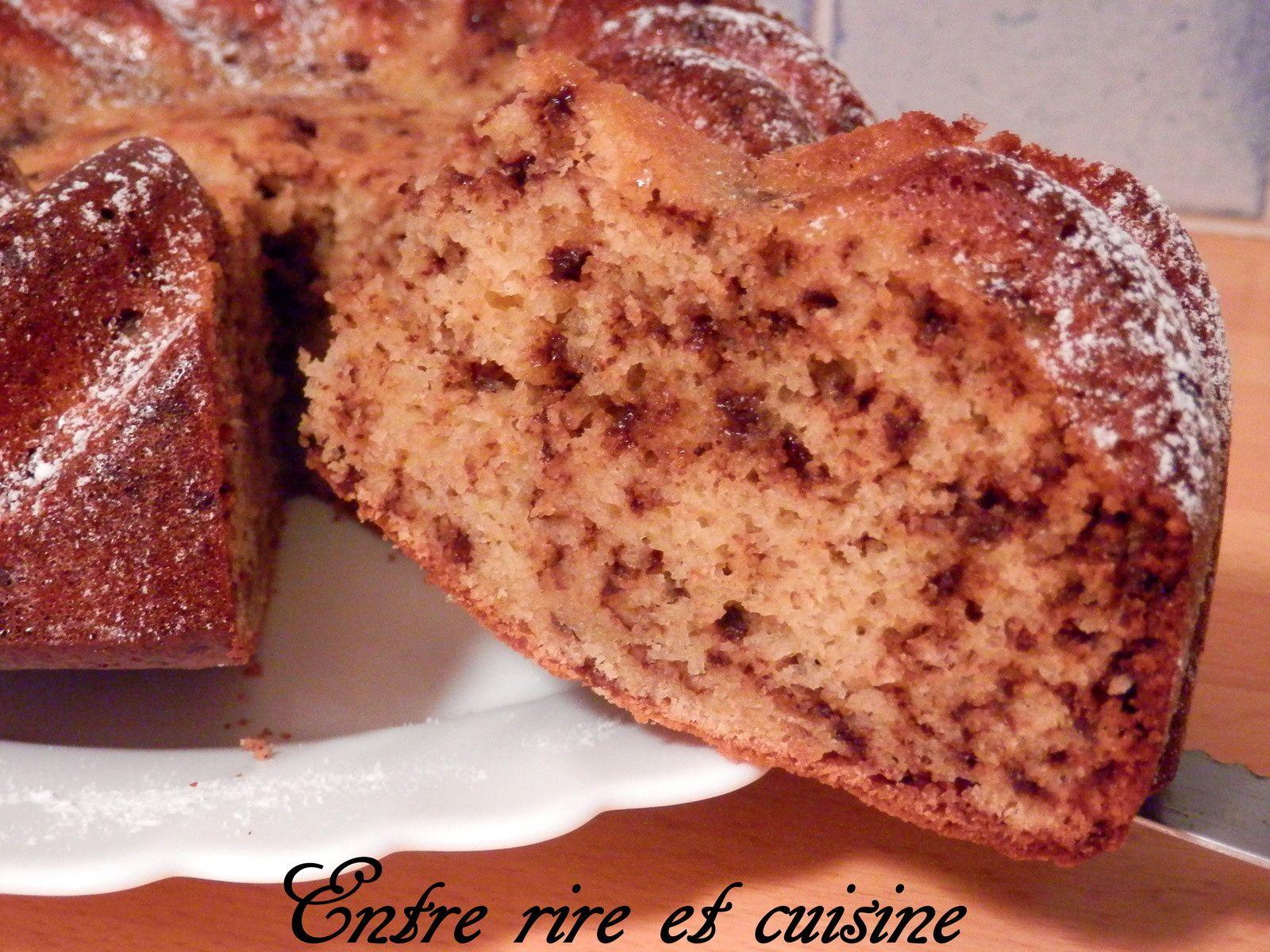 Gâteau à l'amande et au chocolat haché (sans beurre ...