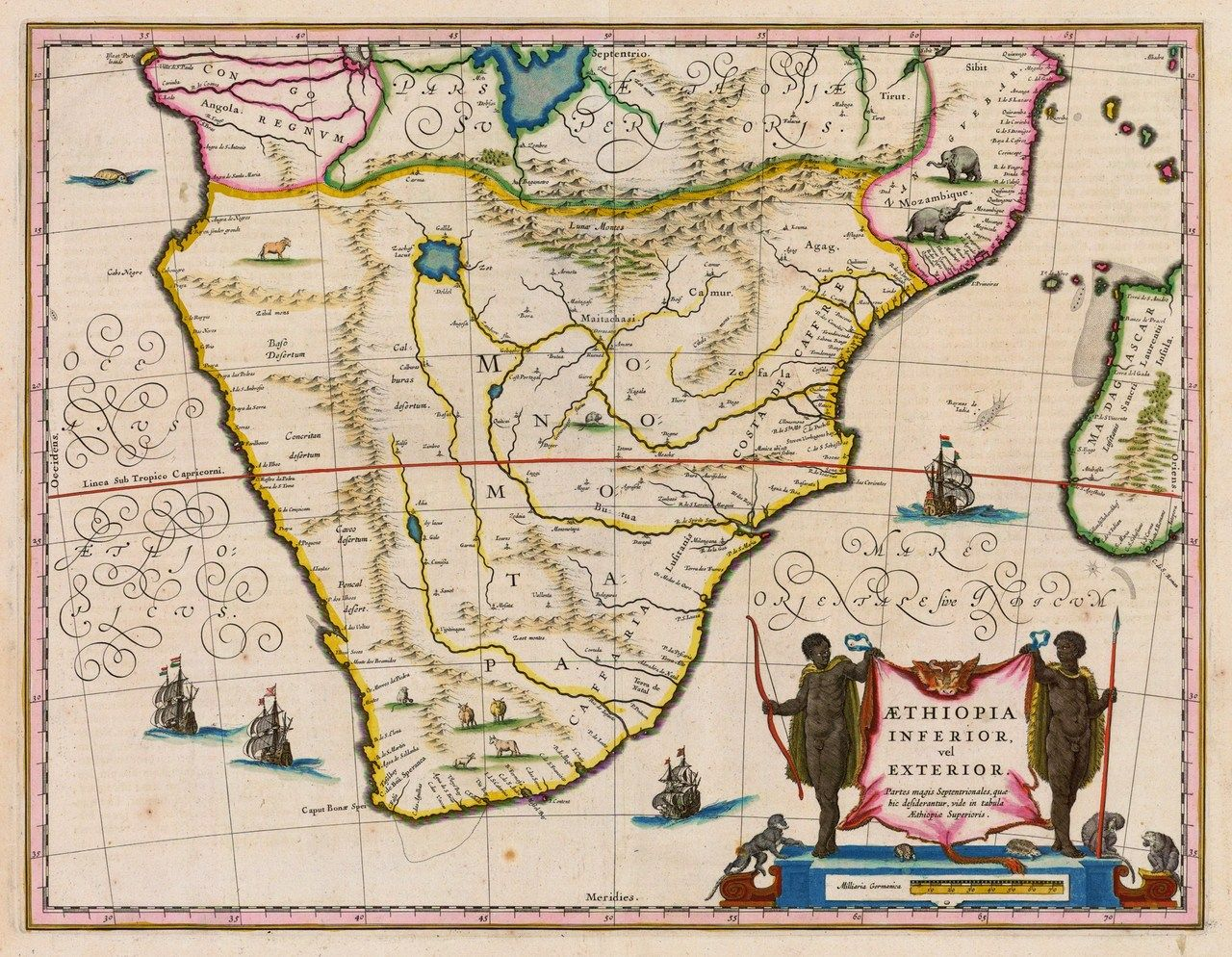 Old Dutch map of South Africa | Maps | Africa map, South africa