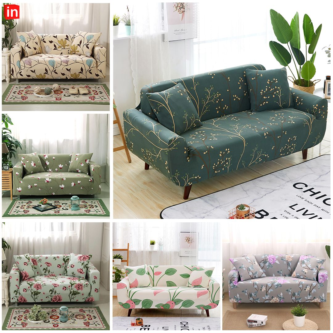 Toyabr 2piece Jacquard Stretchy Fabric Sofa Cover Living Room Polyester Sofa Slipcovers Fitted Couch Protector Fo Fabric Sofa Cover Slipcovers Slipcovered Sofa