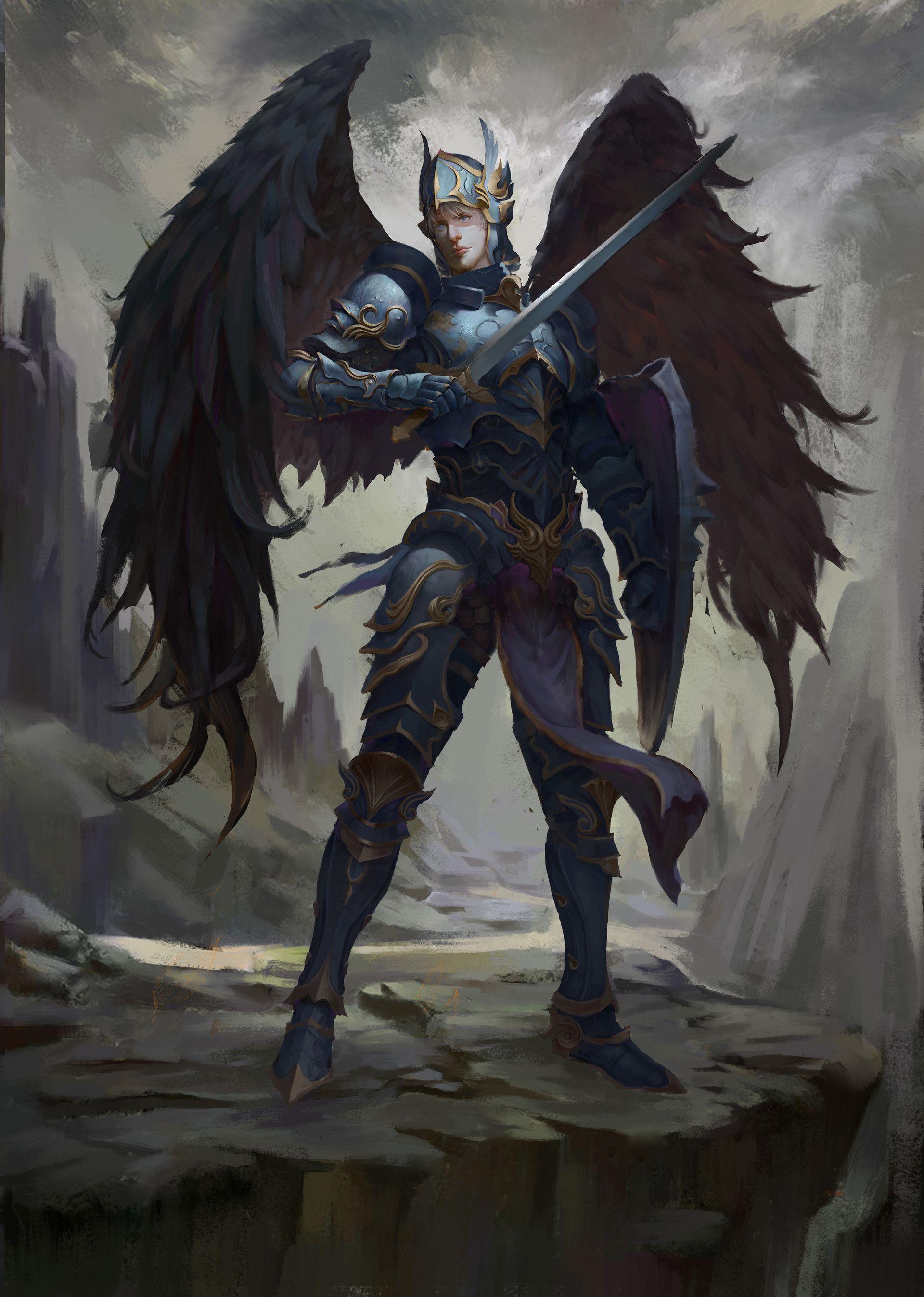 Artstation Learn Liu Hao Angel Artwork Fantasy Art Angel