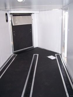 Front Ramp Trailer Alpha Rubber Floor And Three Lines Track Interior