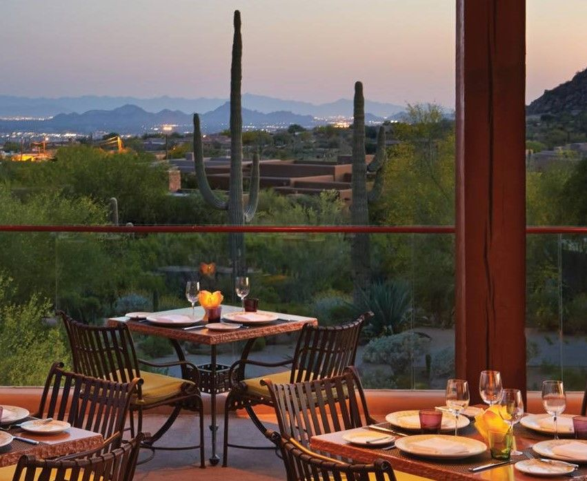 Experiencing Dinner With A Premier View Of Scottsdale S