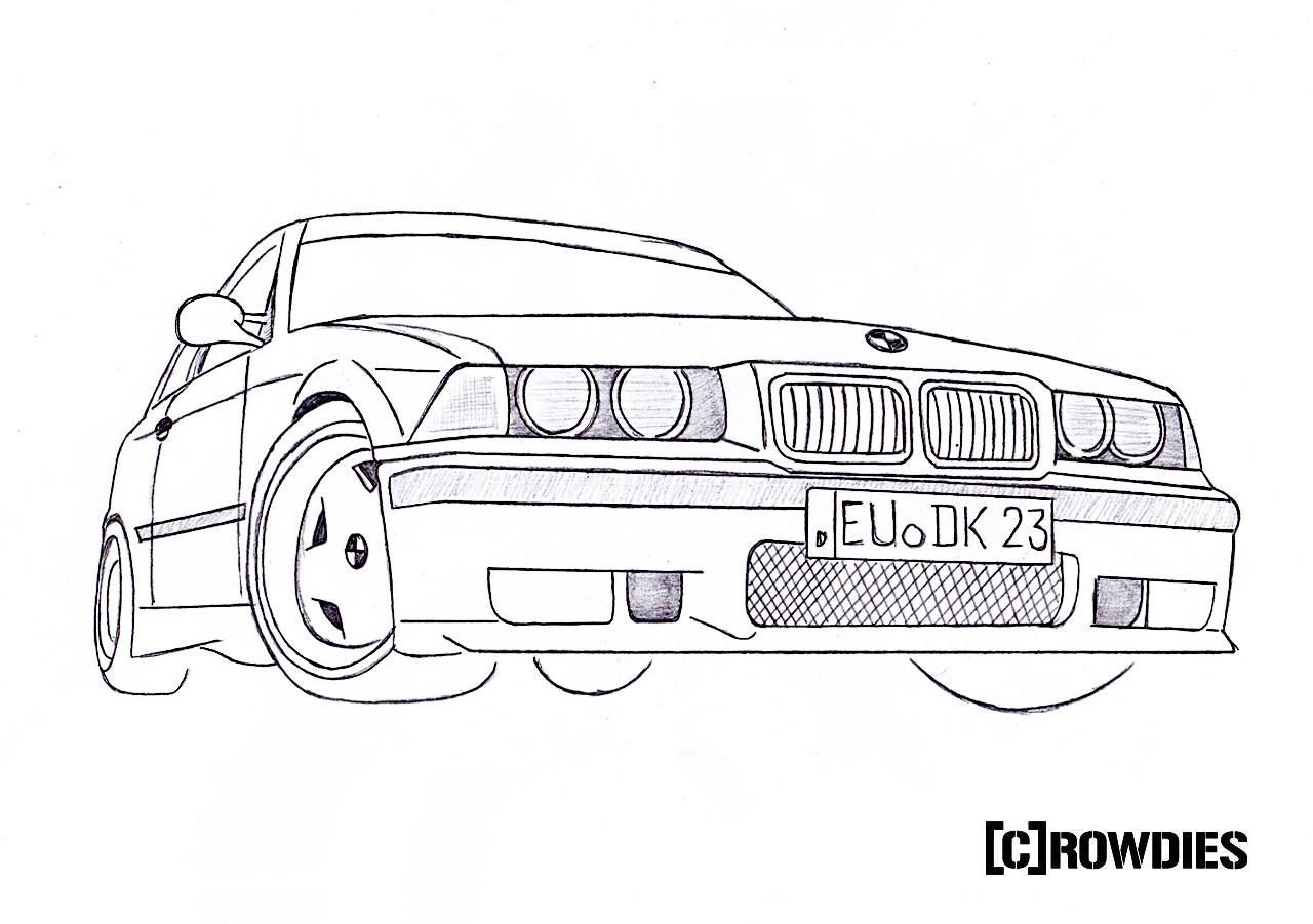 Drawing Zeichnung Desene T Cars Muscle Cars I