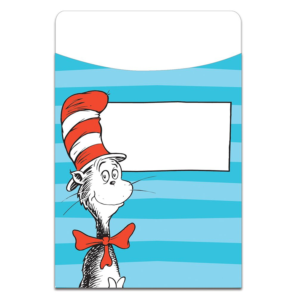 Dr. Seuss™ Classic Library Pockets, classroom decor