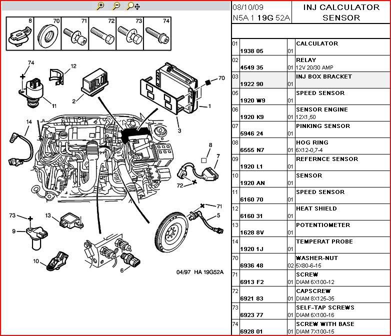 peugeot 206 parts list manual