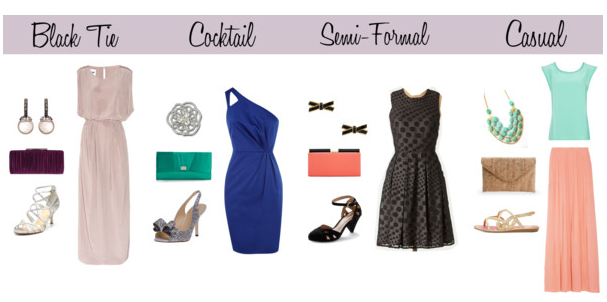What To Wear To A Casual Or Black Tie Or Cocktail Or