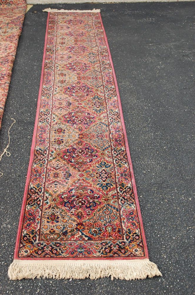 Authentic Karastan Pattern 717multi Color Panel Kirman Runner Rug