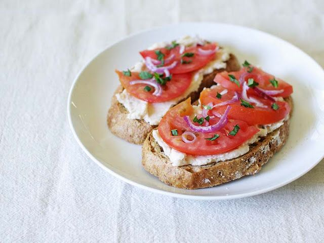 Tomato and White Bean Toasts - Vegan