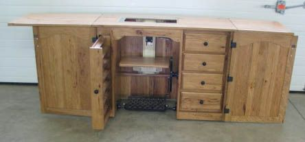 Amish Furniture-Sewing Machine Cabinet. LOVE the built-in for ...