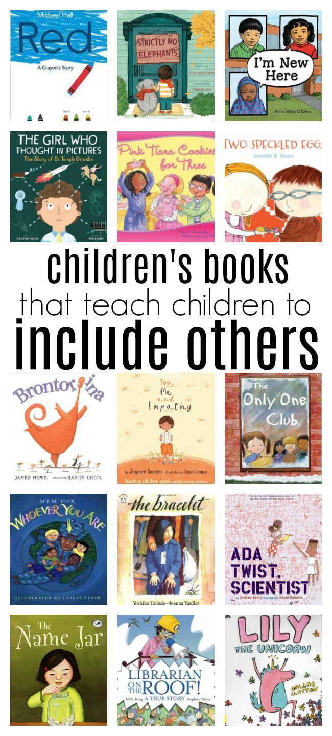 Books That Teach Children How To Include Others Preschool Books