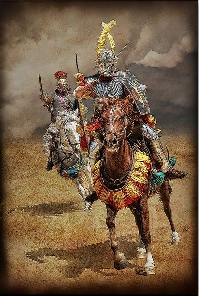 Roman Cavalry  More @ FOSTERGINGER At Pinterest