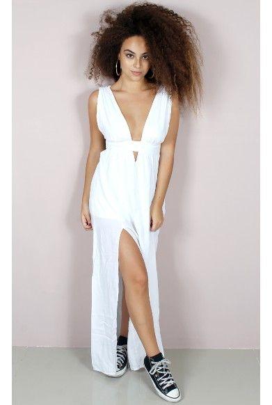 0bb0a352d Vestido Longo Decote Profundo Must - fashioncloset | Ideias de look ...