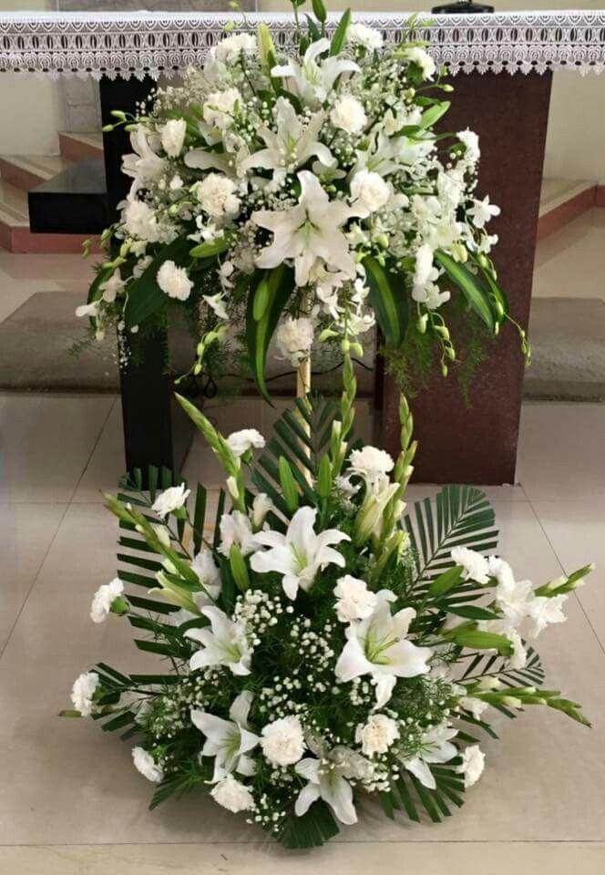 flower arrangement ideas for church altars - Google Search Alter Flowers Church Flowers Funeral & Church   Church   Flowers Church flower arrangements Flower ...