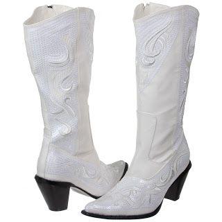 barato mejor valorado materiales superiores detalles para Botas vaqueras para novia   zapatos   Botas vaqueras blancas ...