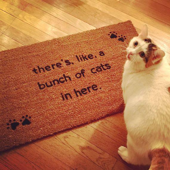 We Got A Bunch Of Cats Inside Doormat Cat Door Mat Door