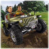 Power Wheels Fisher Price Monster Traction Jeep Hurricane Green