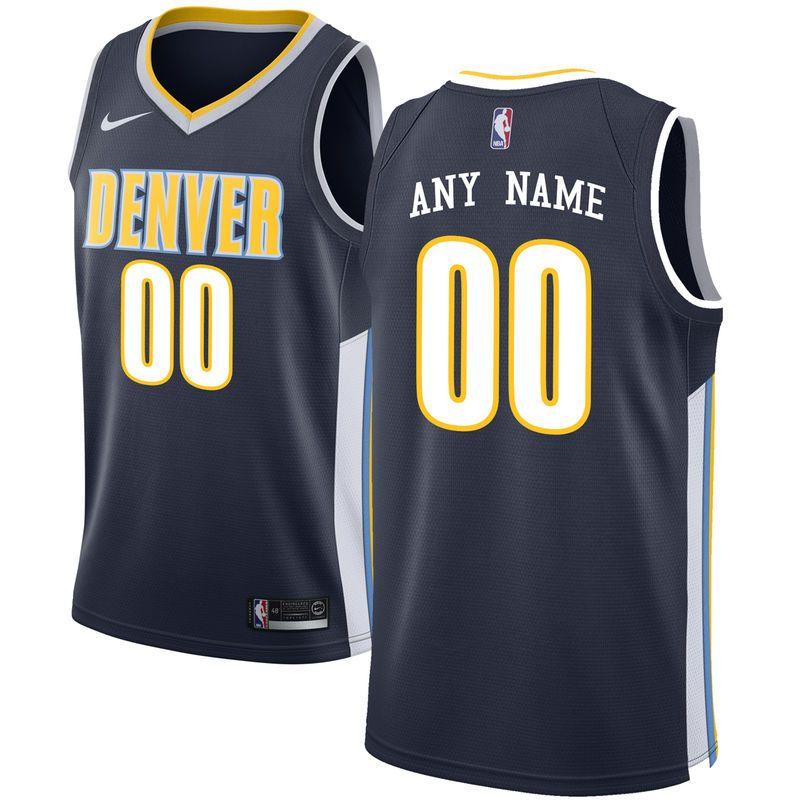 3007151c1f6a Denver Nuggets Nike Swingman Custom Jersey Navy - Icon Edition ...