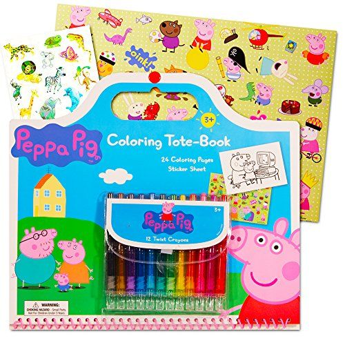 Delight Your Peppa Pig Fan With This Peppa Pig Coloring Book Set Peppa Pig Giant Tote Coloring B Peppa Pig Stickers Peppa Pig Coloring Pages Animal Stickers
