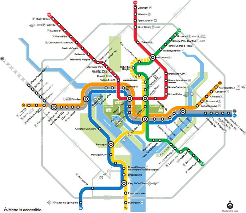 Washington DC Metro Subway System Map Washington DC 2018