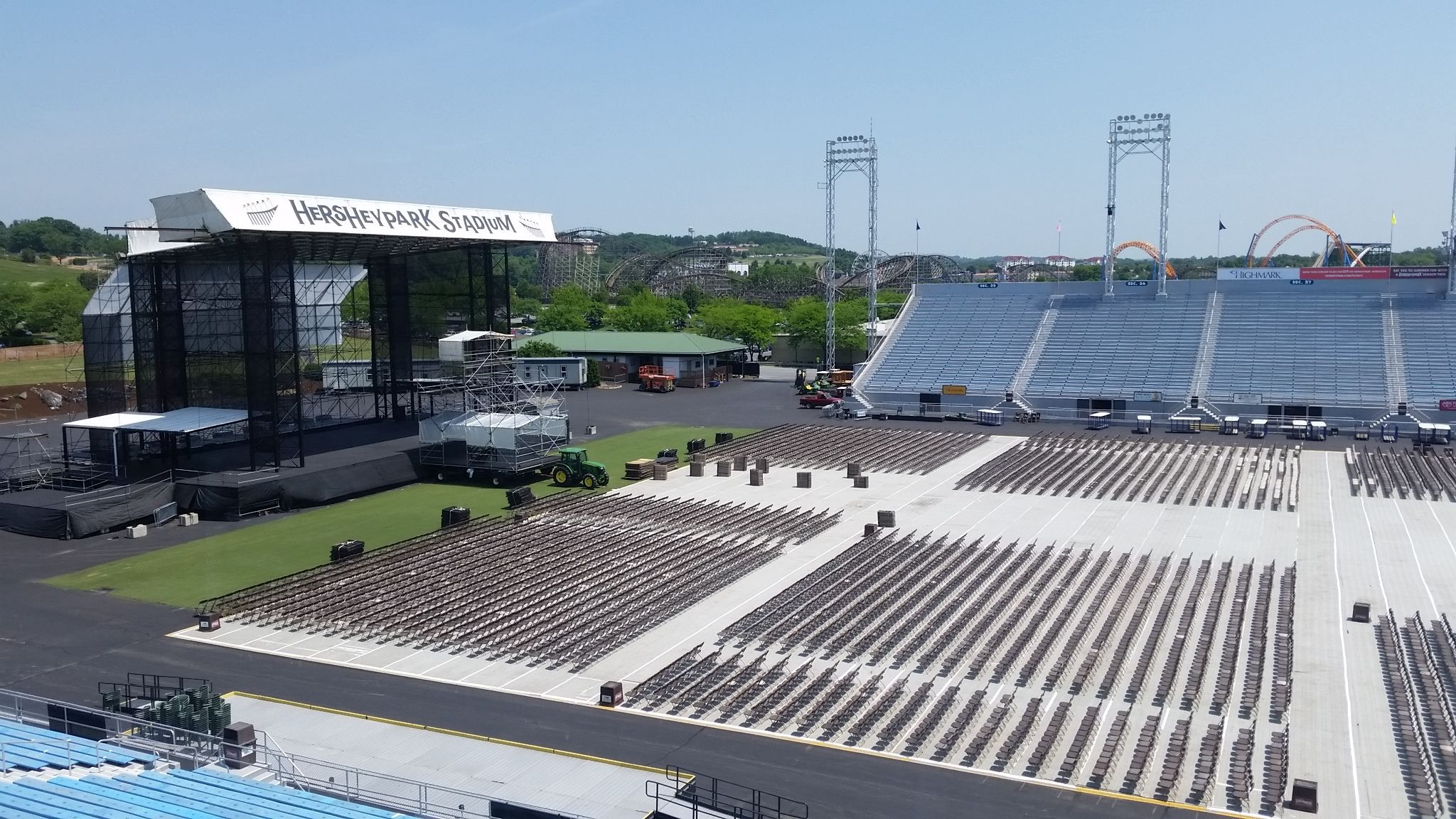 Hersheypark Stadium Is Ready For A Concert Hersheypa Seating Charts Stadium Hershey Park