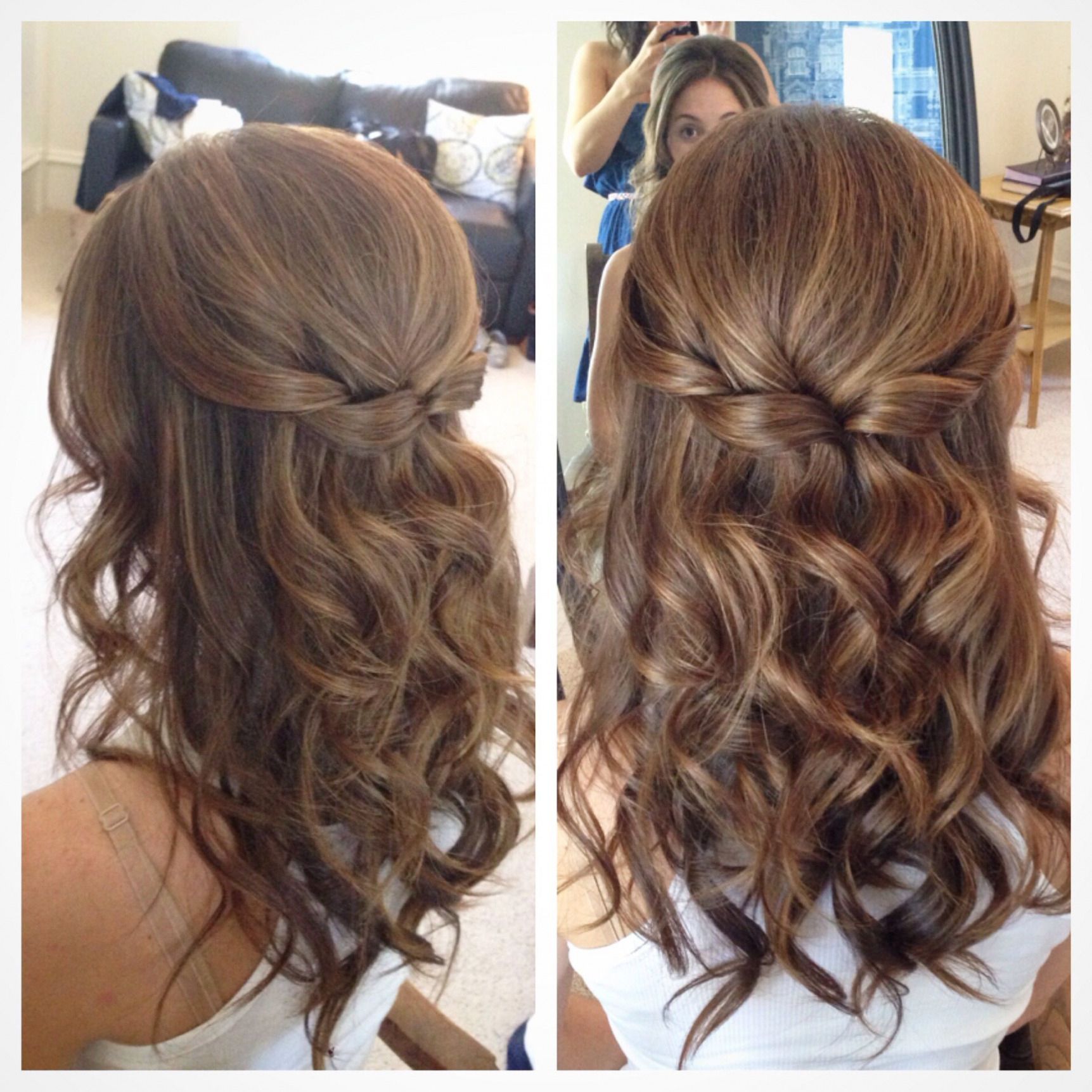 half up half down wedding hairstyles for medium length hair