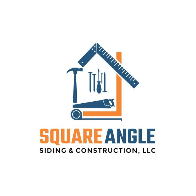 siding and roofing construction company logo and card by