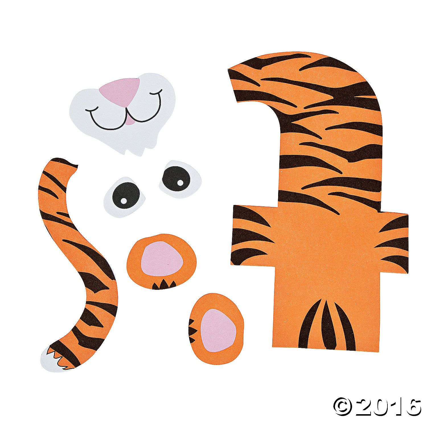 T Is For Tiger Letter T Craft Kit A01
